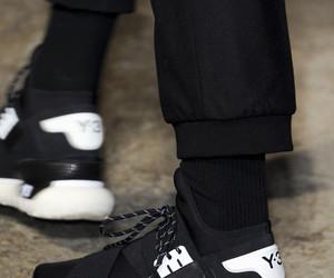 black, yohji yamamoto, and shoes image