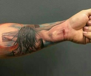 cool, tatto, and jesus image
