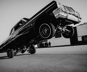 black&white, hip-hop, and car image
