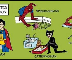 catwoman, ironman, and spiderman image
