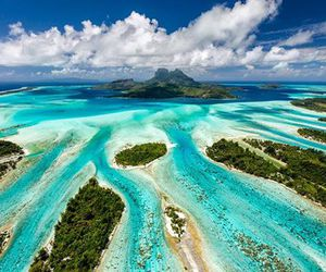beautiful, travel, and bora bora image