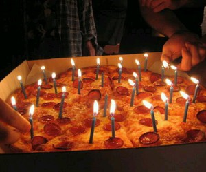 pizza, birthday, and food image