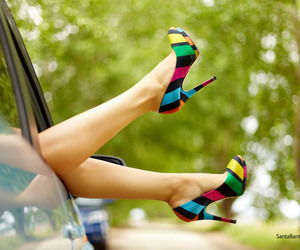 car, colorful, and shoes image