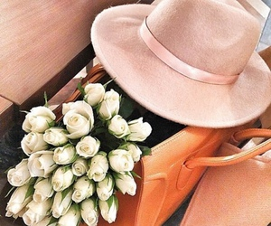 flowers, fashion, and hat image