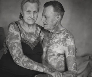 tattoo, old, and couple image
