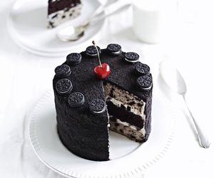 cake, cherry, and chocolate image