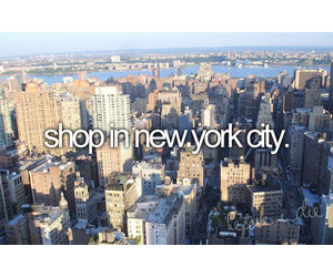 new york, shopping, and before i die image