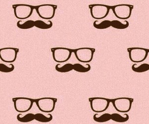 mustach, patterns, and pink image