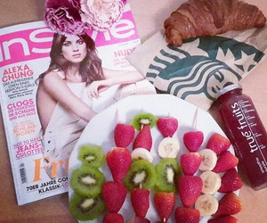 breakfast, croissant, and flowers image