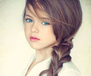 girl, hair, and blue eyes image