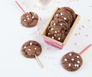 brownie, food, and hot chocolate image