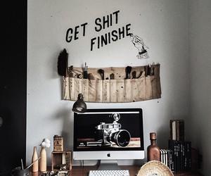bedroom, desk, and grunge image