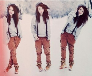 girl, style, and winter image