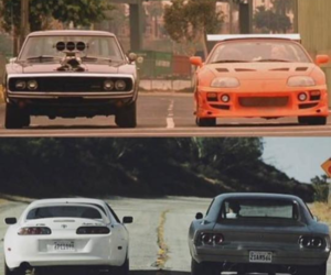 paul walker, Vin Diesel, and fast and the furious image