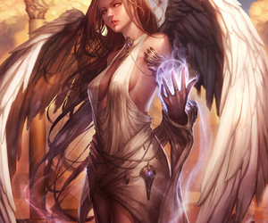 angel, fantasy, and girl image