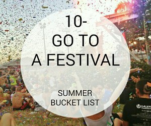 summer, bucket, and festival image