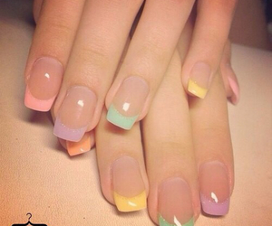 nails, colors, and nail art image