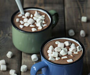 chocolate, drink, and marshmallow image