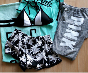 bikini, shorts, and sweatpants image