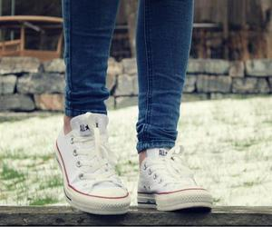converse, white, and jeans image
