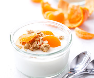 food, sweets, and yogurt image