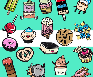 background, cakes, and candy image