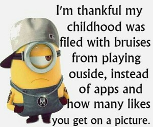 funny, childhood, and minions image