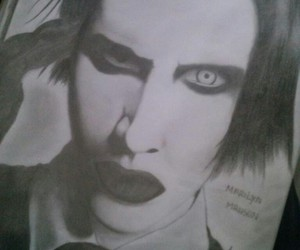 art, drawings, and Marilyn Manson image