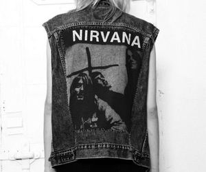 nirvana, grunge, and black and white image