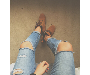 indie, jeans, and timberland image