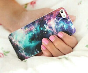 iphone, galaxy, and nails image