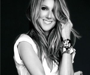 black and white, celine dion, and diva image