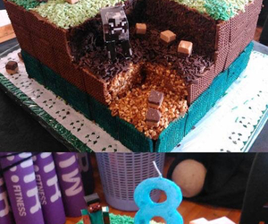 cake and minecraft image