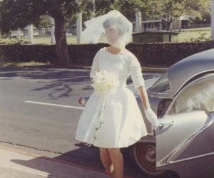 bride, vintage, and fashion image