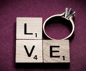 ring, scrabble, and love image