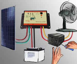 solar heating, pv solar panels, and solar water heating image