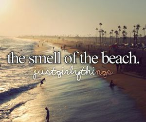beach, summer, and smell image