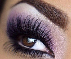 eye makeup, eyelashes, and eyes image