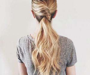 ponytail, hair, and hairstyle image