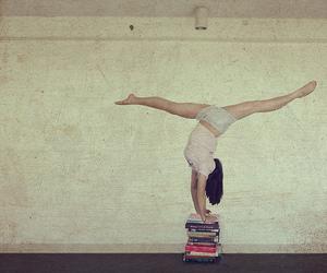 books, girl, and splits image