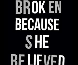 believe and broken image