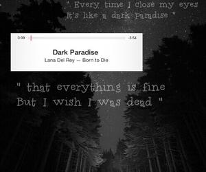dark, paradise, and dark paradise image