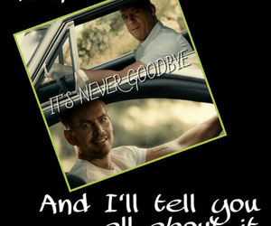 paul walker, Vin Diesel, and :'( image