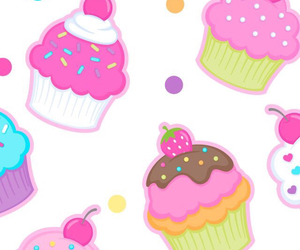 wallpaper and cupcakes image