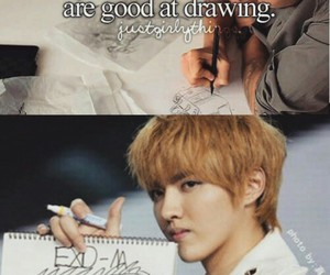 kris, exo, and kpop image