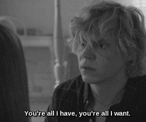 ahs, tate, and love image