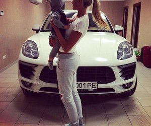 baby, car, and family image
