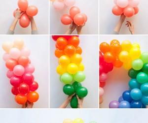 balloons, diy, and rainbow image