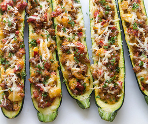food, veggies, and zucchini image