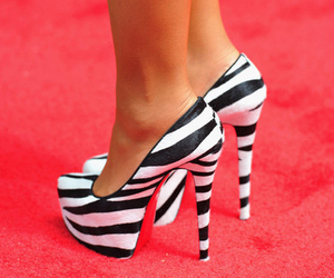 beauty, black, and high heels image